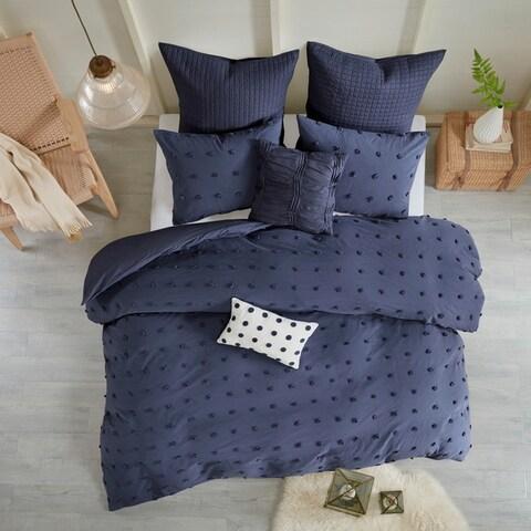 Copper Grove Vaseux Cotton Jacquard 7-piece Duvet Cover Set