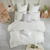 Copper Grove Vaseux Ivory Cotton Jacquard 7-piece Duvet Cover Set