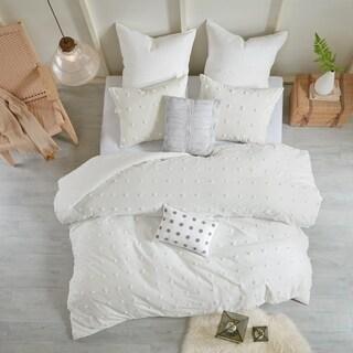 Maison Rouge Amelie Ivory Cotton Jacquard 7-piece Duvet Cover Set
