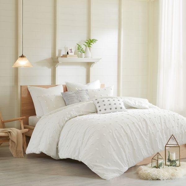 Urban Habitat Maize Ivory Cotton Jacquard Comforter Set