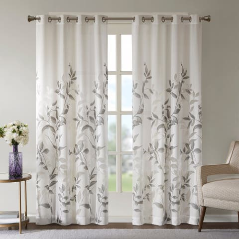 The Gray Barn Yturria Grey Printed Curtain Panel