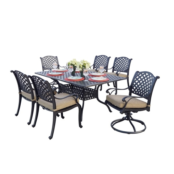 Havenside Home Sackville Cast Aluminum 7-piece Dining Set