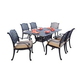 Havenside Home Sackville Cast Aluminum 7-piece Rectangle Dining Set