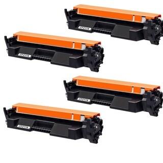 4PK Compatible CF217A Toner Cartridge For HP LaserJet Pro M102w M102a MFP M130nw M130fw M130fn M130a ( Pack of 4 )