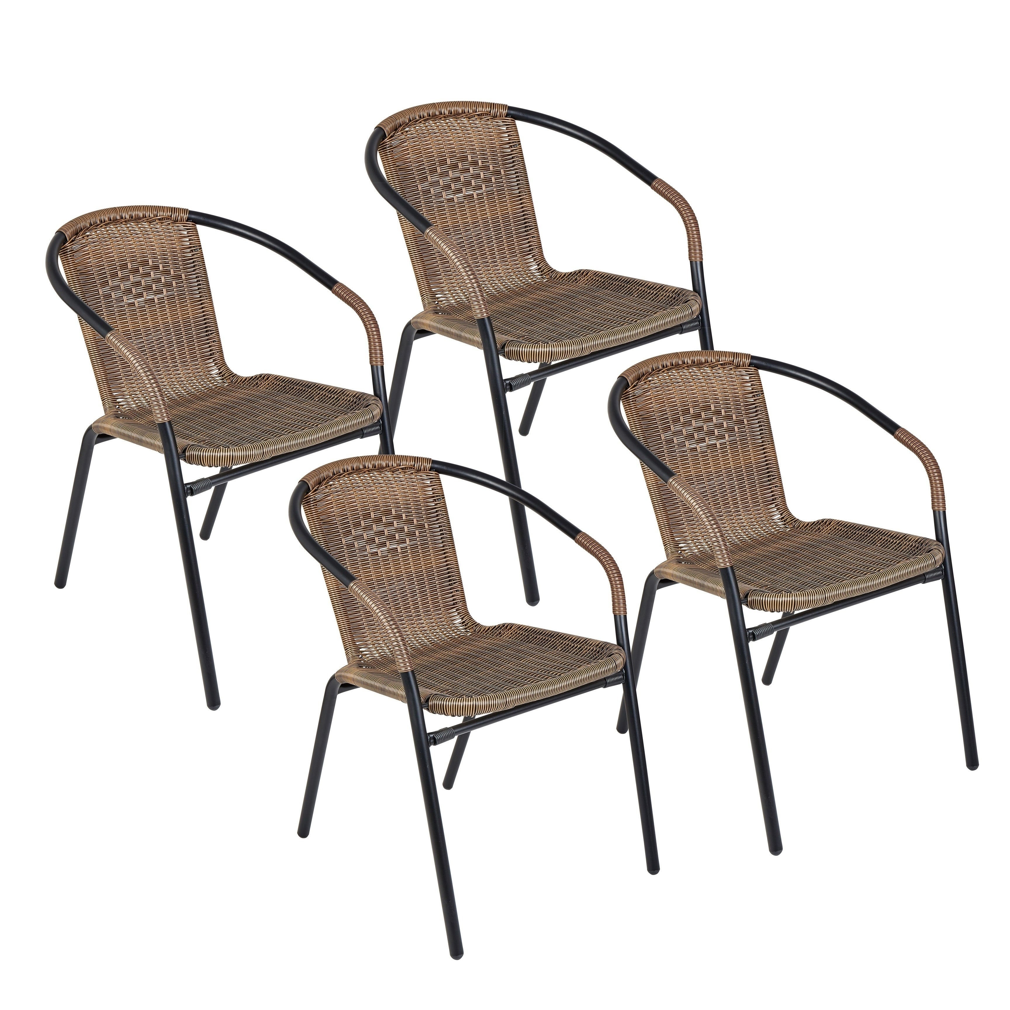 The Curated Nomad Clopin Indoor/Outdoor Rattan Chairs (Set of 4)