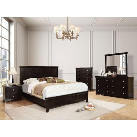 Furniture of America Lend Transitional Espresso Queen Solid Wood Bed