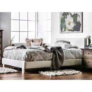 Furniture of America Kutty Queen Upholstered Platform Bed