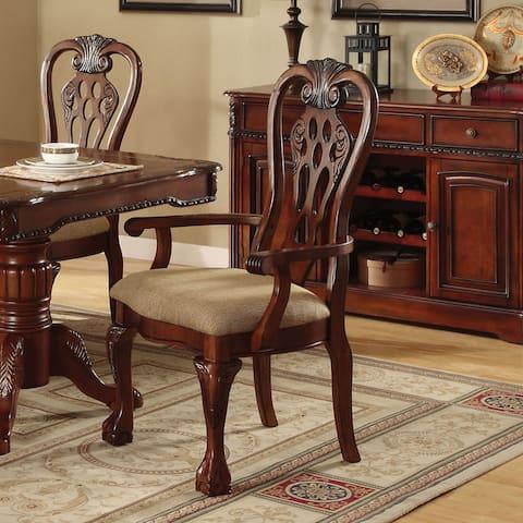 "Gracewood Hollow Yang Cherry Arm Chair (Set of 2) - 27""w x 26""d x 42""h (seat ht: 19 1/2"", seat dp: 18"