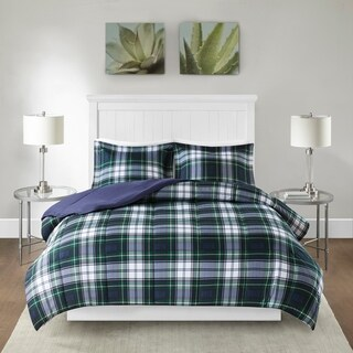 Carbon Loft Sterling Navy/ Green Down Alternative Comforter Mini Set