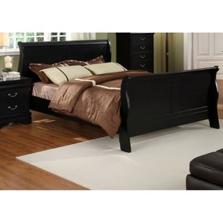 Furniture of America Bila Contemporary Solid Wood Paneled Sleigh Bed