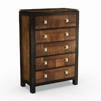 Furniture of America Anteia Acacia and Walnut 5-Drawer Chest
