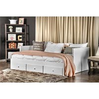 Furniture of America Ophelia Cottage Style Solid Wood Full-size Storage Daybed