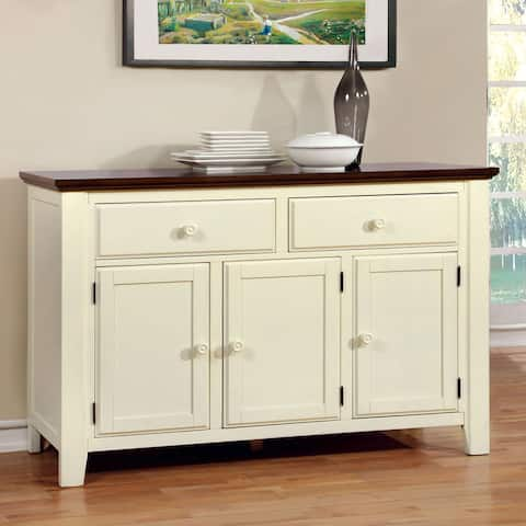 Furniture of America Bethannie Transitional 2-Tone Dining Server
