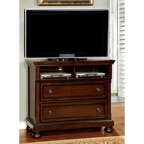 Traditional Dark Cherry 2-drawer Media Chest by FOA