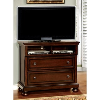 Furniture of America Yoa Traditional 45-inch Cherry Media Chest