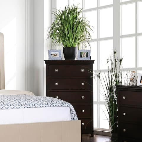 Furniture of America Lend Traditional Solid Wood 5-drawer Chest
