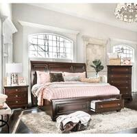 Gracewood Hollow Yep Cherry Finish Solid Wood 3-piece Bedroom Set