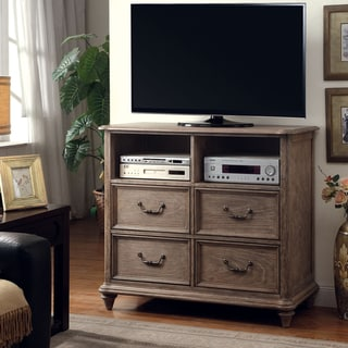 Furniture of America Tury Rustic 46-inch Brown Solid Wood Media Chest