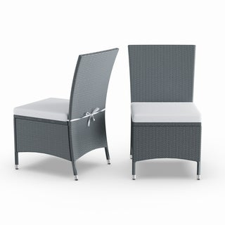 Havenside Home Stillwater Grey Indoor/Outdoor 2-piece Armless Dining Chair Set