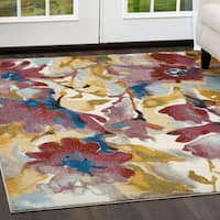 "Parlin Watercolored Flowers  Area Rug by Nicole Miller - Multi - 7'9""x9'5"""