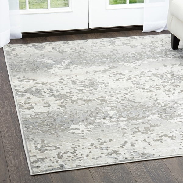 Shop Dark Gray Amp Gray Infinity Area Rug By Nicole Miller