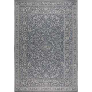 "Patio Country Blue-Gray Indoor/Outdoor Rug by Nicole Miller - 7'9""x10'2"""