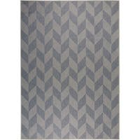 """Patio Country Blue-Gray Geometric Indoor/Outdoor Rug by Nicole Miller - 7'9""""x10'2"""""""