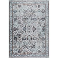 "Gray & Mauve Kenmare Border Area Rug by Nicole Miller - 7'9""x10'2"""