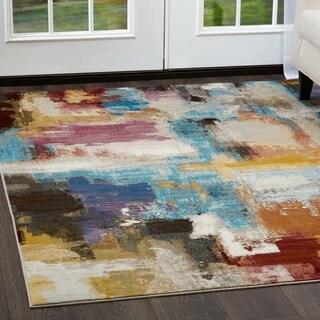 """Parlin Contemporary Watercolor Area Rug by Nicole Miller - 7'9""""x9'5"""""""