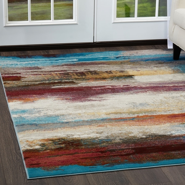 Shop Parlin Colorful Brushstrokes Area Rug By Nicole