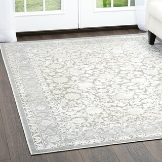 """Dark Gray & Gray Infinity Transitional Area Rug by Nicole Miller - 8'7""""x12'5"""""""