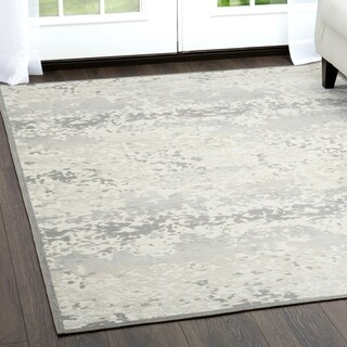 "Ivory & Gray Infinity Area Rug by Nicole Miller - 7'6""x10'2"""