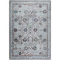 "Gray & Mauve Kenmare Border Area Rug by Nicole Miller - 9'2""x12'5"""