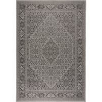 "Patio Country Gray-Black Persian Indoor/Outdoor Rug by Nicole Miller - 7'9""x10'2"""