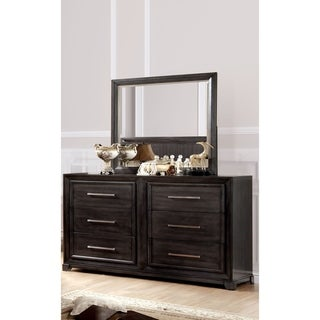 Furniture of America Nini Grey 2-piece Dresser and Mirror Set
