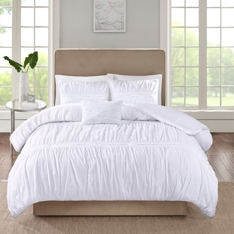 510 Design Denice White 4 Piece Comforter Set
