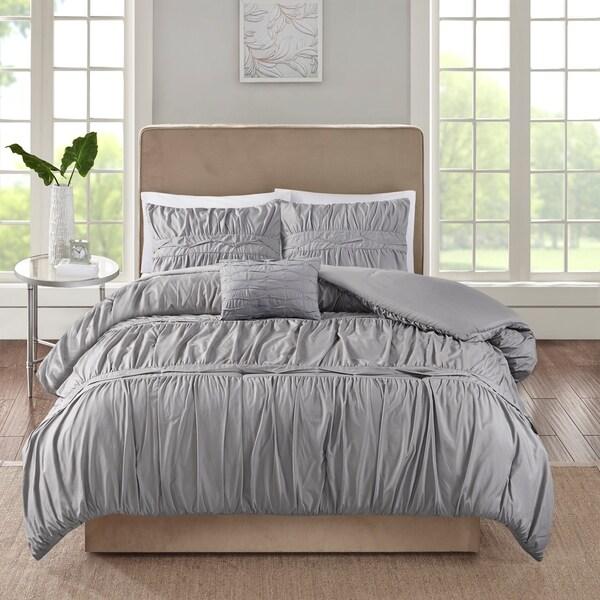 510 Design Denice Grey 4 Piece Comforter Set