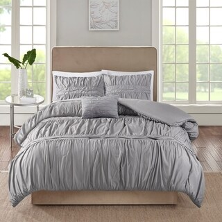 510 Design Denice Grey 4 Piece Comforter Set (2 options available)
