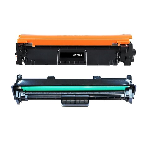 2PK Compatible CF217A Toner Cartridge and CF219A Drum Unit For HP LaserJet Pro M102w M102a MFP M130nw M130fw ( Pack of 2 )
