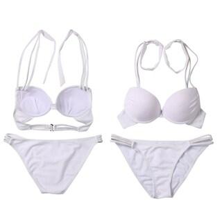 Women's Halter Triangle Bikini Swimwears Two Pieces Set