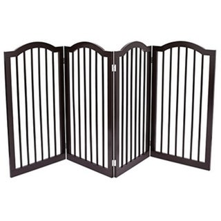 Internet's Best Pet Gate with Arched Top | 4 Panel | 36 Inch Tall Fence | Free Standing Doorway Hall Stairs Dog Puppy Gate