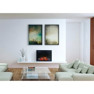 Napoleon Cinema 24-inch Built-In Electric Fireplace Insert with Logs and Remote Control