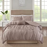 510 Design Denice Taupe 4 Piece Comforter Set