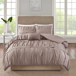 510 Design Denice Taupe 4 Piece Comforter Set (2 options available)