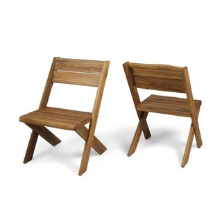 Eaglewood Outdoor Acacia Wood Chair (Set of 2) by Christopher Knight Home (2 options available)