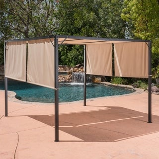 Westray Outdoor Steel 10-foot Gazebo by Christopher Knight Home