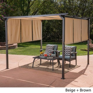 Lawrence Outdoor Steel 10-foot Gazebo by Christopher Knight Home