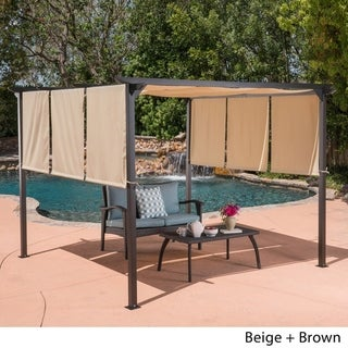 Lawrence Outdoor Steel 9.5 foot Gazebo by Christopher Knight Home