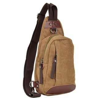 Dasein Vintage Canvas Messenger/ Cross body Bag/ Sling Pack/ Chest bag