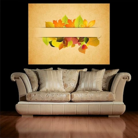 "Fall Leaves Full Color Wall Decal Sticker AN-671 FRST Size 22""x27"""